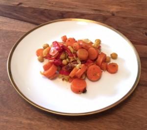 Kichererbsen-Karotten-Gemüsesalat